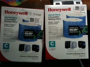 4 Honeywell Humidifier C Filter  Replacement HEV320 HCM-890 HC888 Series 2 packs