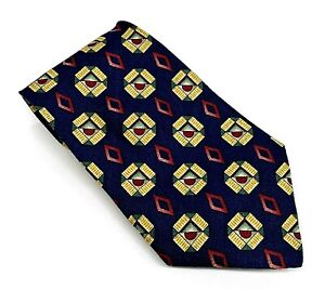 Mark Shale by Pendleton Classy Navy Blue Red Brown Polka Dot 57 x 4 Italy New