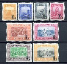 Kolumbien Colombia 1951 Freimarken Flugpost L Airmail 606-13 Postfrisch MNH