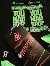 "Seattle Seahawks ""You Mad Bro"" socks (Mens, XS, BLK)"
