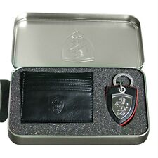 Men's Puma Ferrari Key Ring and Wallet Card Holder Gift Set Unique Present Black