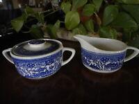 Cream & Sugar USA ? Blue Willow Ware ? Royal China ? Ironstone
