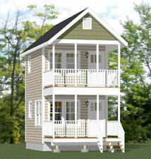 12x16 Tiny House -- 364 sq ft -- PDF Floor Plan -- Model 3A