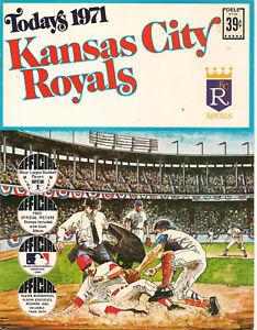 Rare baseball stamps 1971 Today's  KANSAS CITY ROYALS Dell stamp album