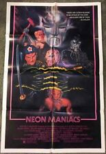 NEON MANIACS! '86 CULT CLASSIC HORROR ORIGINAL U.S. 1-SHT FILM POSTER!