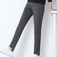 Lady Winter Pants Fleece Lining Warm Thick Sports Trousers Tracksuit Baggy Solid
