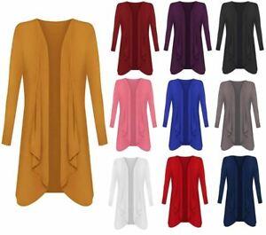 Women's Cardigans Plus Size Hanky Hem Long Sleeve  Waterfall Womens Cardigan