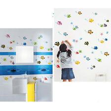 Cartoon Bigeye Fish Wall Sticker Sheet PVC Kids Children Bathroom Decoration