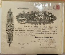 More details for the bombay industrial mills co. ltd share of 100 rupees 25th march 1920