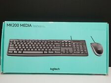 LOGITECH MK200 Media Kit. Wired Keyboard and Mouse included.