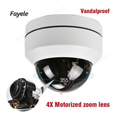Security AHD 1080P Vandalproof Dome PTZ Camera 4IN1 2.8~12mm Len 4X zoom IR40M
