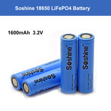 4pcs Soshine 18650 Lifepo4 Protected Rechargeable Battery Storage With Charger