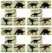 Dinosaur Stickers! Stegosaurus Allosaurus Parasaurolophus 20 Large Stickers!