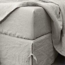 100% ORGANIC FLAX Linen ~ Eco-Friendly ~ Natural/Grey ~ DUVET COVER ~ QUEEN