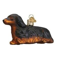 Long-Haired Dachshund Old World Christmas Glass Dog Pet Ornament Nwt 12493