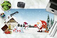 3D Niedliche Kaninc H42 Christmas Rutschfest Schreibtisch Matte Tastatur Pad Amy