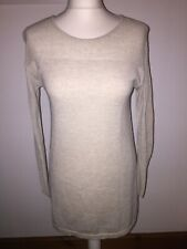 EILEEN FISHER oatmeal colour 100% wool fine knit jumper size S worn once