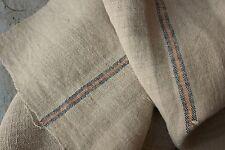 Antique hemp material Upholstery fabric 47 in linen homespun natural 25.5 WIDE
