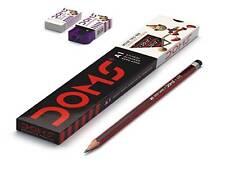 100x Doms A1 Deep Dark Graphite Pencil  10 Doms Sharpener + 10 Doms Eraser  Free