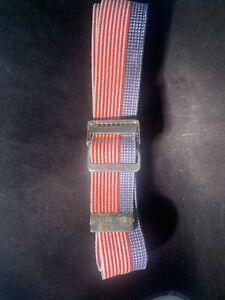 "SKIL-CARE Gait Belt 56"" x 2"" Red, White & Blue Stars & Stripes Flag Strap"
