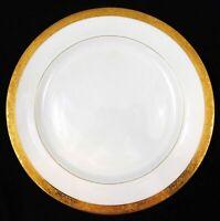 Antique Minton Gold Encrusted Chop Plate China Birds Urn Floral Globe Mark H3179