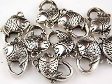 10 PCS Tibetan Zinc Alloy Fish Lobster Claw Clasps Findings
