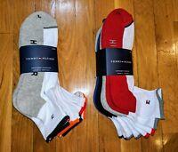 Tommy Hilfiger 6 Pair Pack Quarter Cotton Blend Cushion Socks Shoe Size 7-12