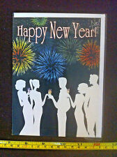 Happy New Year With Best Wishes For The New Year Noel Tatt Card & Envelope New