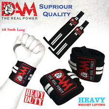 DAM 18 InchWEIGHT LIFTING GYM TRAINING WRIST SUPPORT STRAPS WRAPS BODYBUILDING