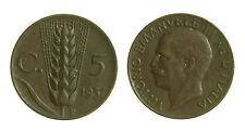 pcc1280_1)  Vittorio Emanuele III cent 5 spiga  1937 Rara