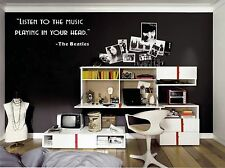 Listen to the music in your head  vinyl wall decal