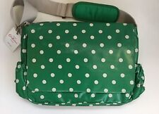 Cath Kidston Green White Spot Nappy Baby Bag New with Tags