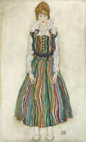 Egon Schiele Portrait of Edith Poster Reproduction Paintings Giclee Canvas Print