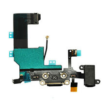 Black Charging Port -Replacement Charger Flex Cable USB Dock Mic For iPhone 5 5G