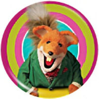 Basil Brush Pin Badge Swapshop Fox 1980s TV Retro NEW