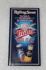 Rolling Stone 50 Year Miller MGD Beer Jimi Hendrix Elvis Presley Fender Guitar