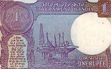 INDE billet neuf de 1 rupee Pick78Ah  plateforme petroliere ASOKA 1992