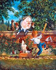"""Scott Gustafson """"  Humpty Dumpty """" # 1173/3500 Very Nice  S/N 1993 Mint W/CERT"""