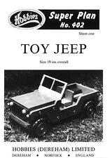 Hobbies planes para hacer un fantástico Juguete Jeep p402