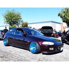 15X8.5 +17 Klutch KM16 4x100 Blue Wheel Fits Yaris Mr2 Crx Scion Xa Xb Stance