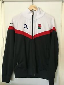 ENGLAND TEAM RUGBY - ZIP UP TRAINING JACKET JERSEY - NIKE O2 - MENS M