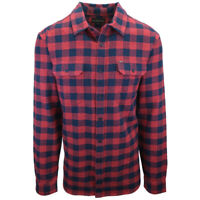 Rip Curl Men's Navy Red Box Plaid L/S Flannel Shirt (S18)