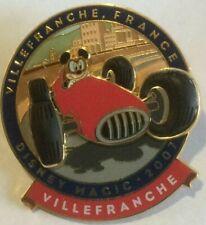 Mickey VilleFranche FRANCE Race Car DCL disney Cruise Line Magic   pin U