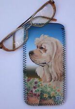 AMERICAN COCKER SPANIEL DOG NEOPRENE GLASS CASE POUCH PRINT SANDRA COEN ARTIST