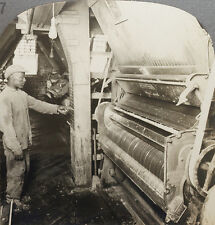 Keystone Stereoview of a Black Worker at a Cotton Gin From Rare USA 100 Card Set