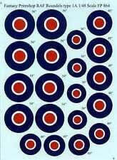 Fantasy Printshop Decals 1/48 British WWII R.A.F. ROUNDELS TYPE I A