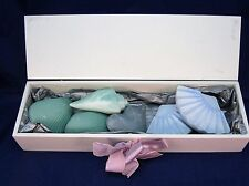 Decorated Wood Box Filled With 6 Beautiful Guest Soaps - Great Gift