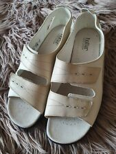 Hotter cream leather  Velvro Fasting Open Toe Shoes (Florence Style) Size 9.