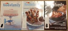 Kraft Food & Family Recipe Magazine Collection of 3