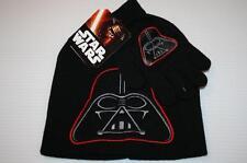 Star Wars Darth Vader Kids Winter Beanie Ski Hat & Gloves by Disney New